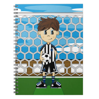 Cuaderno lindo del muchacho del fútbol