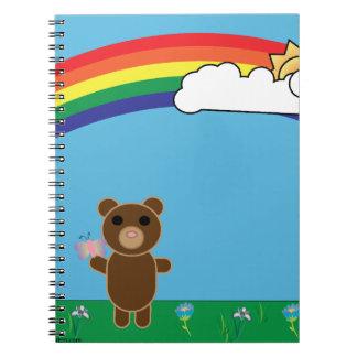 Cuaderno lindo del oso