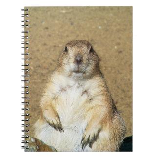 Cuaderno lindo del perro de las praderas
