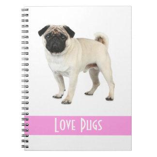 Cuaderno lindo del perro de perrito del barro amas