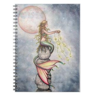 Cuaderno llenado estrella de la sirena del cielo