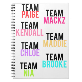 Cuaderno lleno del equipo