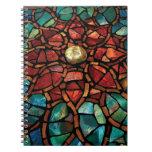 """Cuaderno """"Lotus """" del mosaico del vitral"""
