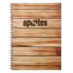 Cuaderno madera con portada personalizable