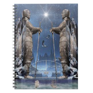 Cuaderno magnífico épico de la puerta