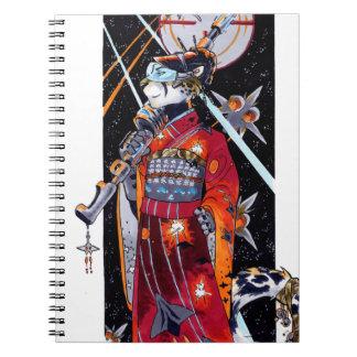 ¡Cuaderno marino de Jaguar del kimono del espacio! Libretas Espirales
