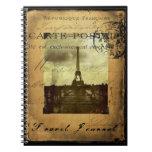 Cuaderno matasellado del diario del viaje de París