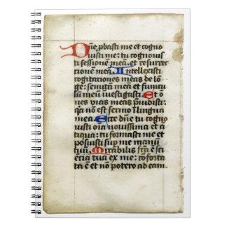 Cuaderno medieval del manuscrito