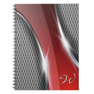 Cuaderno metálico del arte 1 del fondo