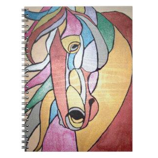 Cuaderno metálico del caballo