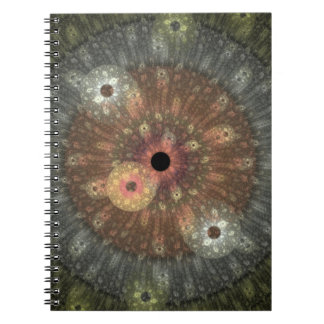 Cuaderno metálico del fractal de la llama