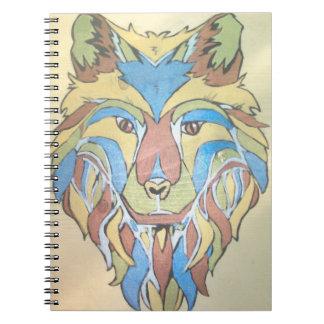 Cuaderno metálico del lobo