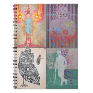 cuaderno mezclado del ejemplo