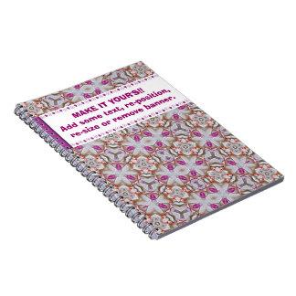 Cuaderno modelado diversión rosada
