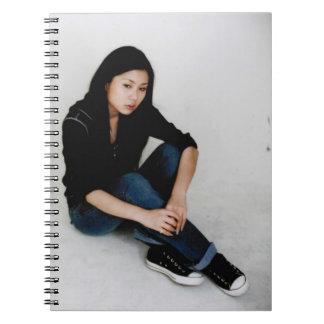 Cuaderno modelo asiático hermoso