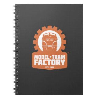 Cuaderno modelo de la fábrica del tren