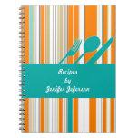Cuaderno moderno de la receta