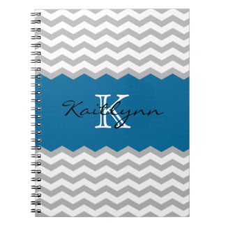 Cuaderno moderno del monograma del acento del