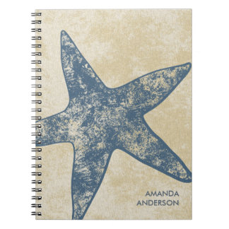 Cuaderno moderno personalizado de las estrellas de