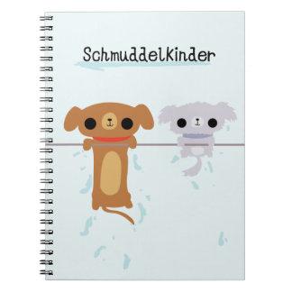 Cuaderno mojado del perrito de Schmuddelkinder