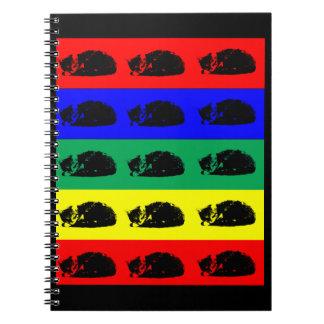 Cuaderno múltiple del arte pop del gato de Tabby