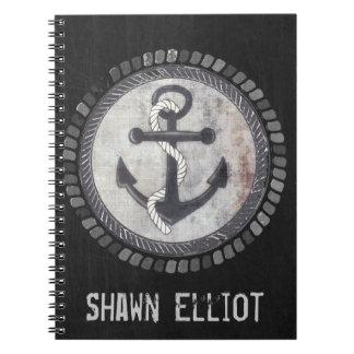 Cuaderno náutico de encargo de la foto de la