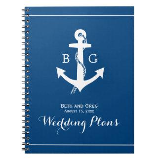 Cuaderno náutico del planificador del boda del