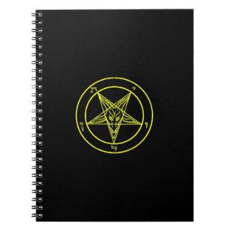 Cuaderno negro/amarillo de Baphomet