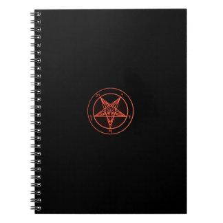 Cuaderno negro/anaranjado de Baphomet