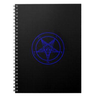Cuaderno negro/azul marino de Baphomet
