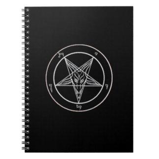 Cuaderno negro/blanco de Baphomet