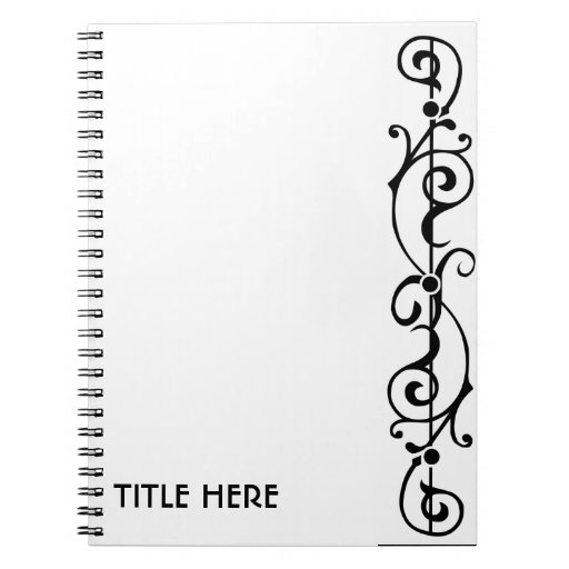 Cuaderno (negro) de la marfil de Tendrillon