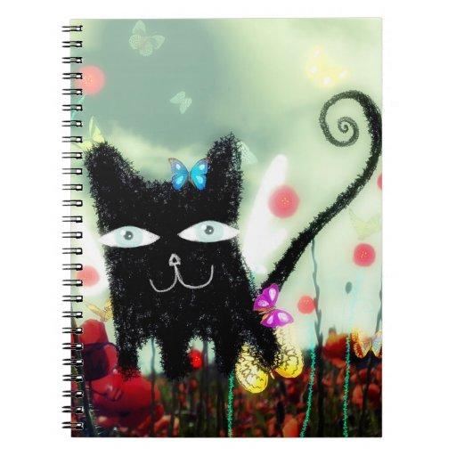 Cuaderno negro del gatito