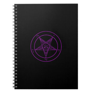 Cuaderno negro/púrpura de Baphomet