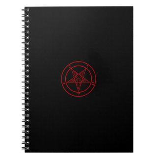 Cuaderno negro/rojo de Baphomet