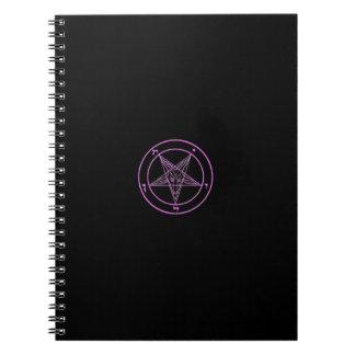 Cuaderno negro/rosado de Baphomet