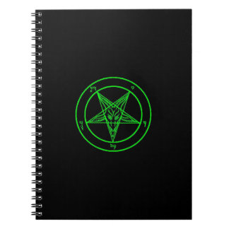 Cuaderno negro/verde de Baphomet