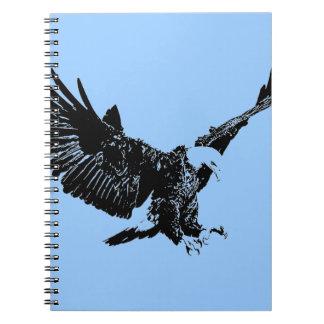 Cuaderno negro y azul de Eagle del arte pop