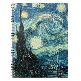 Cuaderno - noche estrellada