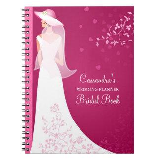 Cuaderno nupcial del diario del planificador de en
