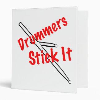 Cuaderno o carpeta del músico del tambor del