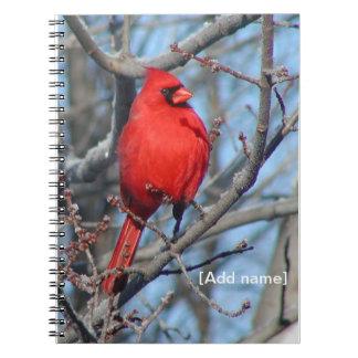 Cuaderno o diario cardinal rojo