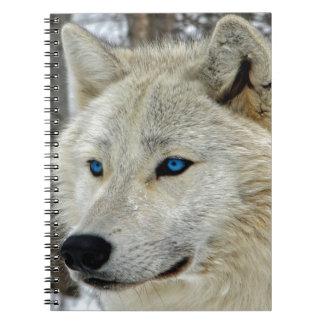 Cuaderno observado azul de White Wolf