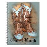 Cuaderno occidental de las botas de vaquero de la