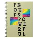 Cuaderno orgulloso y potente