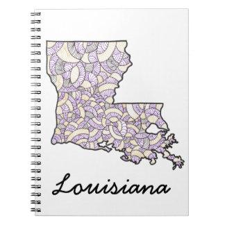 Cuaderno original del ejemplo del arte de Luisiana