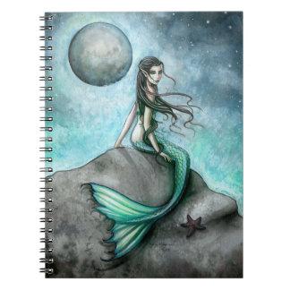 Cuaderno oscuro del arte de la fantasía de la sire