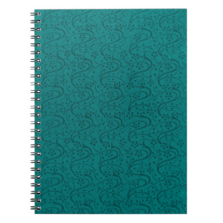 Cuaderno oscuro del trullo del estampado de flores