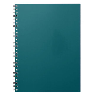 Cuaderno oscuro del verde del trullo