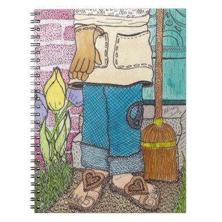 Cuaderno pacífico del jardinero